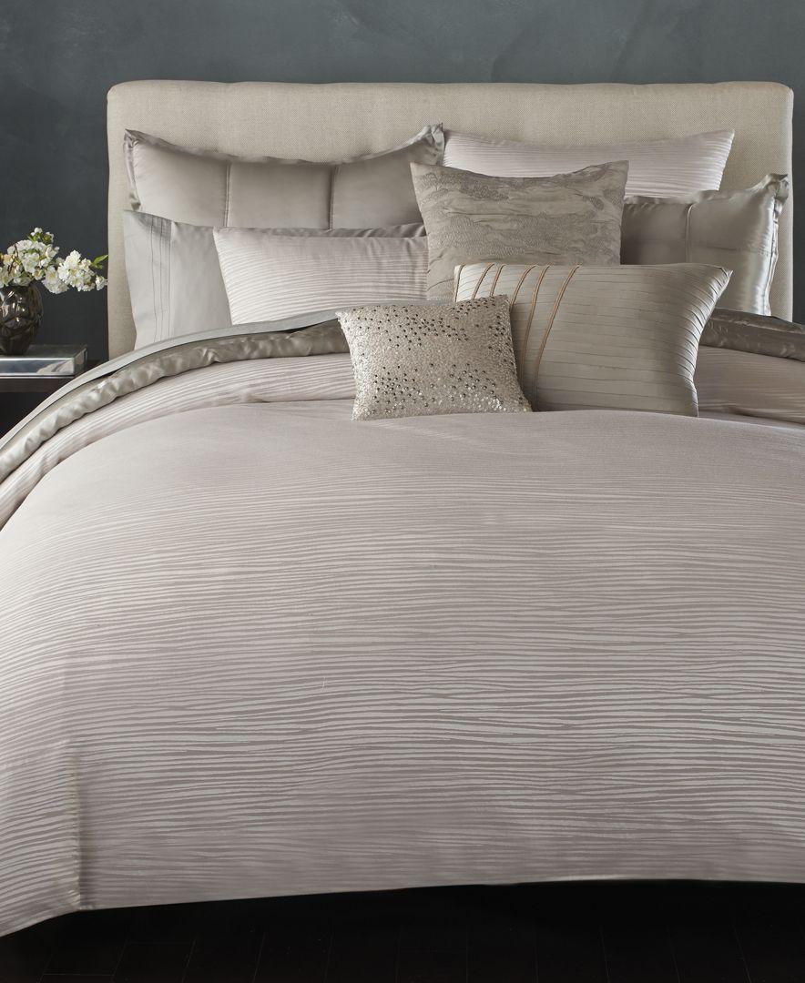 Home Reflection Silver Standard Queen Sham Linge De Maison Parure De Lit Et Lit