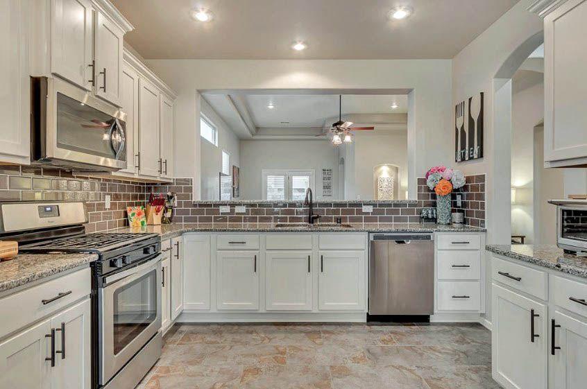 Kitchen With Large Pass Through Window White Modern Kitchen