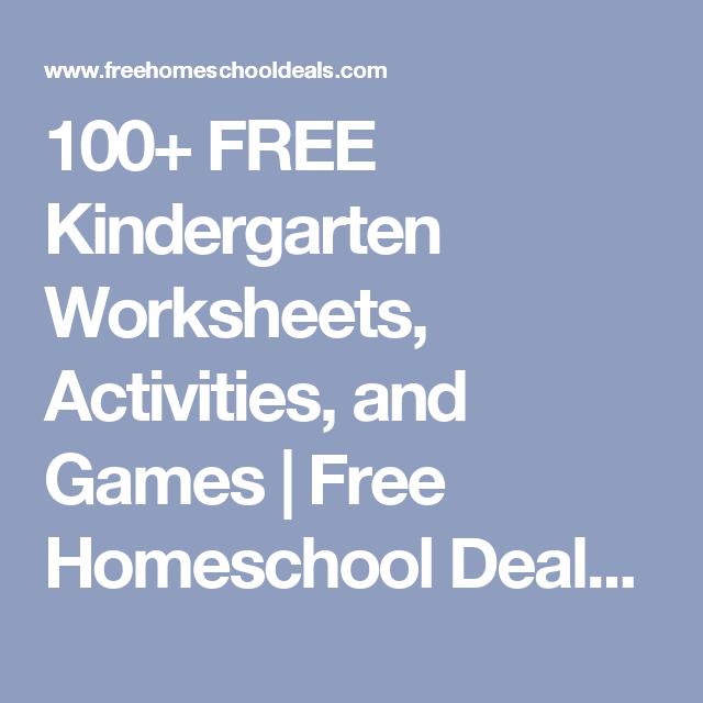 100 Free Kindergarten Worksheets Activities And Games Free