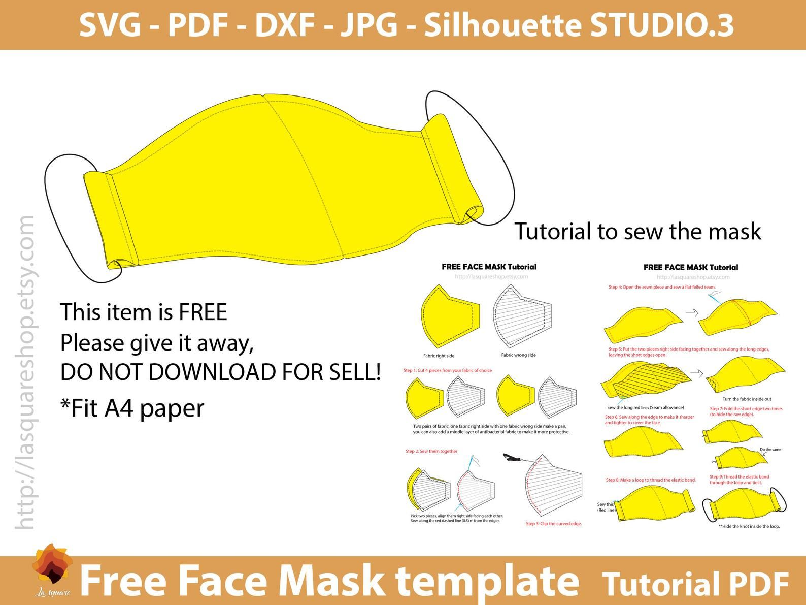 Sew Fun Face Mask Pattern Sizes Xs To Xl In 2020 Mask Face Mask Sewing