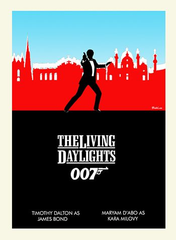 James Bond Fan Art Minimalist art collage - series by BobLee #jamesbondfanart #thelivingdaylights #007