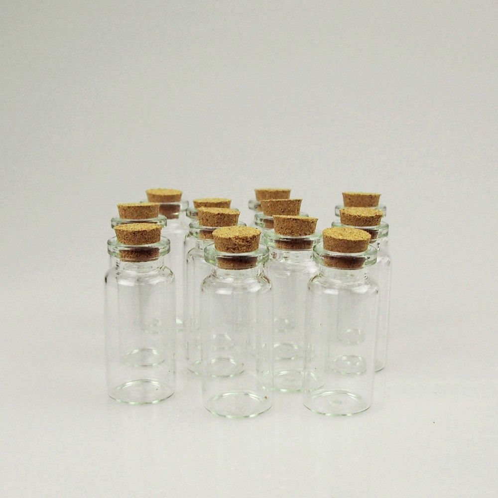 Mini Corked Jar Tube Bottle Favor Souvenir, 12-Piece | Souvenir ...
