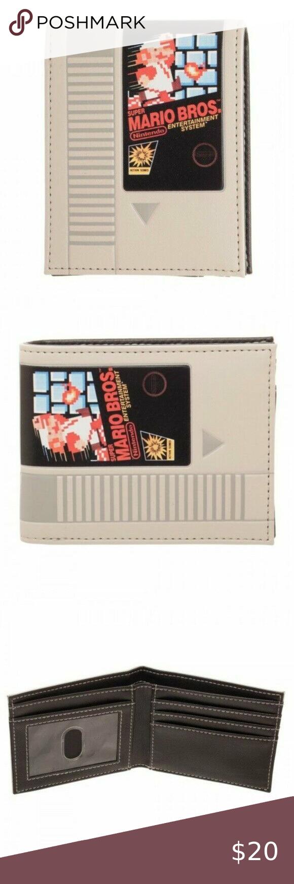Nintendo Nes Super Mario Bros Classic Retro Wallet In 2020 Super Mario Bros Super Mario Mario Bros