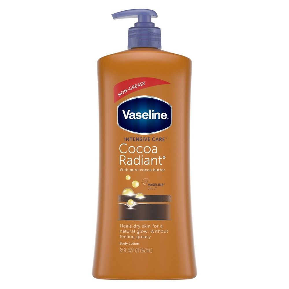 Vaseline Intensive Care Cocoa Radiant Lotion 32 Oz In 2020 Cocoa Butter Lotion Lotion For Dry Skin Vaseline