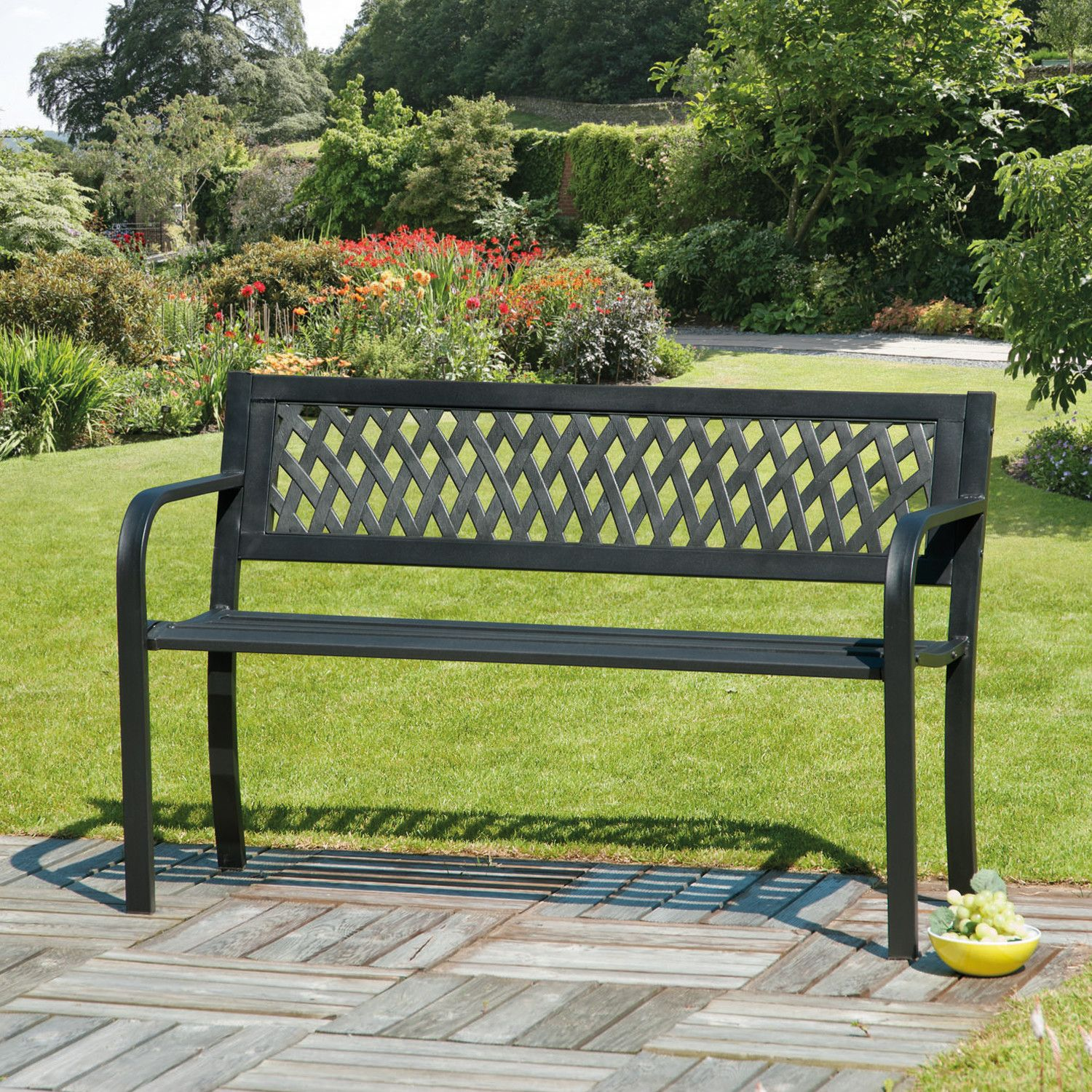 SunTime Outdoor Living Steel/Plastic Garden Bench | New house ...