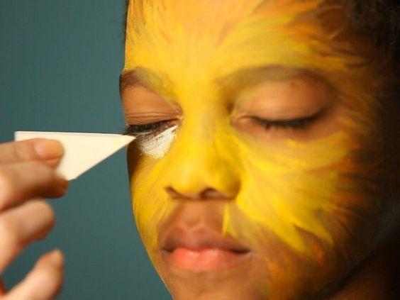 maquillaje de Halloween de león tutorial León Pinterest - maquillaje de halloween para nios