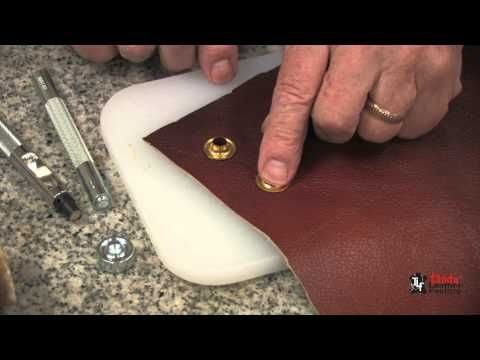 Video How To Add Grommets To Leather Leather Tutorial Sewing Leather Leather Handmade