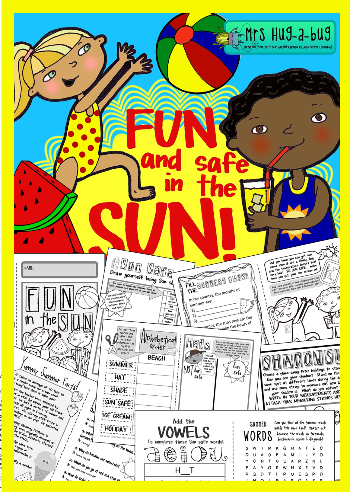 Sun Safety Fun And Safe In The Sun Booklet