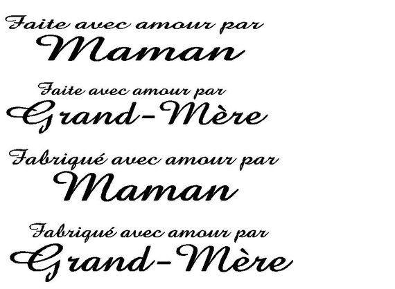 French Clothing Labels Faite Or Fabrique Avec Amour Par