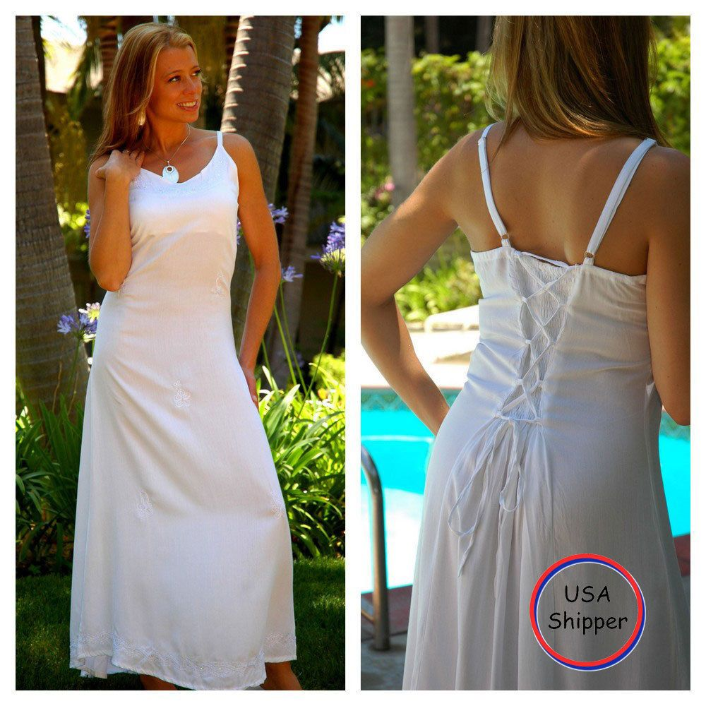 Cool awesome world sarongs womens long white summer dress lined in