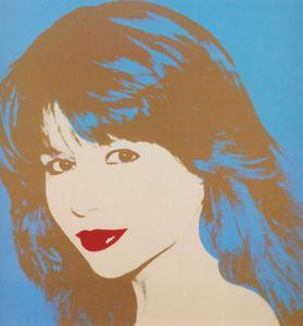 Andy Warhol - Pia Zadora http://flowergirls.rosemarybabikan.com/