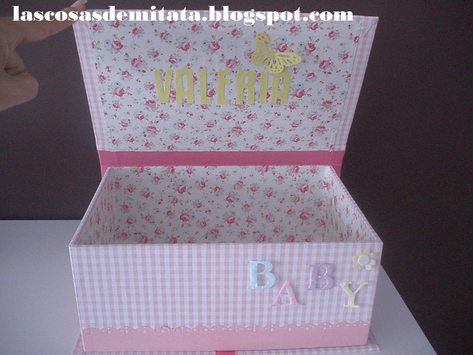Las cosas de mi tata caja para pa ales baby cajas - Cajas decoradas para bebes ...