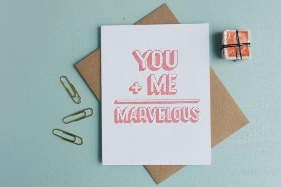 letterpress greeting card love card warm thoughts you - Letterpress Greeting Cards