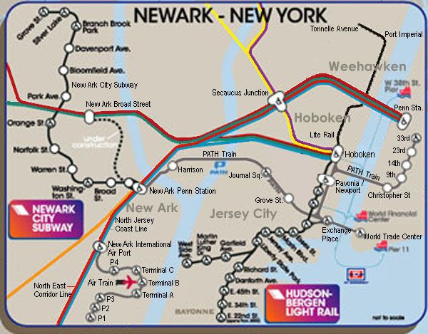 Newark New Jersey Subway Map.Copyright C New Jersey Transit Map It The Beauty Of Direction