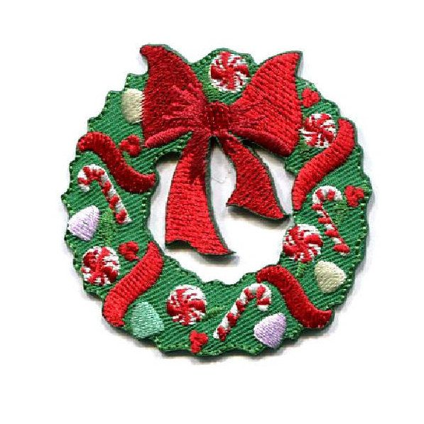 CANDY CANE IRON ON PATCH APPLIQUE