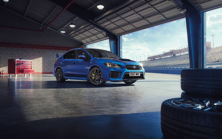 Download Wallpapers Subaru Wrx Sti Final Edition 4k 2018 Cars