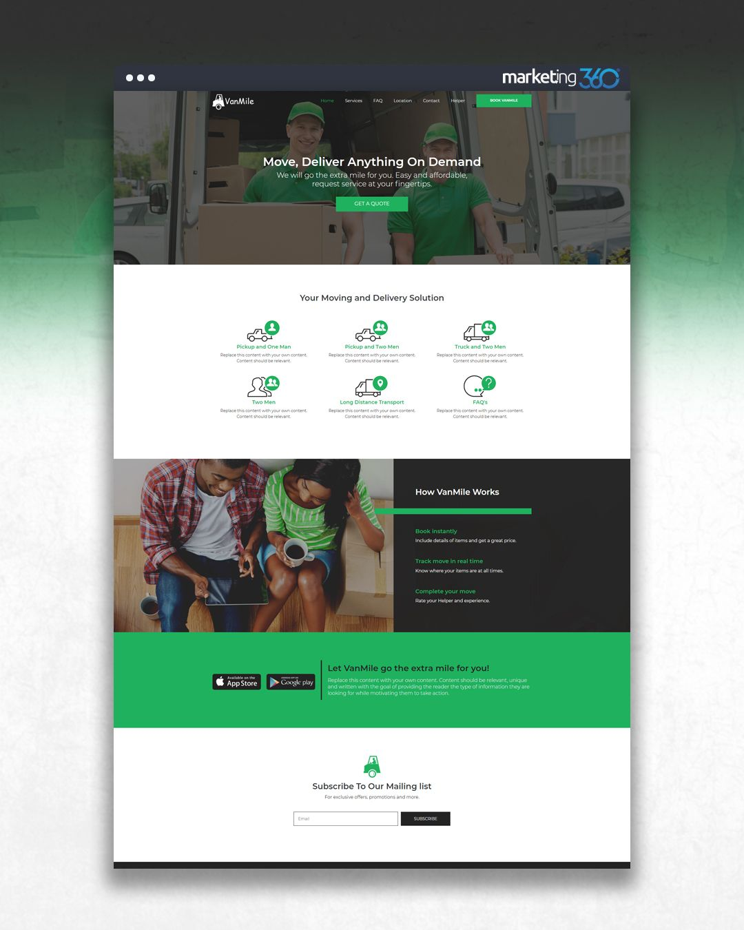 Design Of The Day Moving Service Website Design Concept By Our Talented Designer Pierre Johnson Online Web Design Website Design Design Online Store