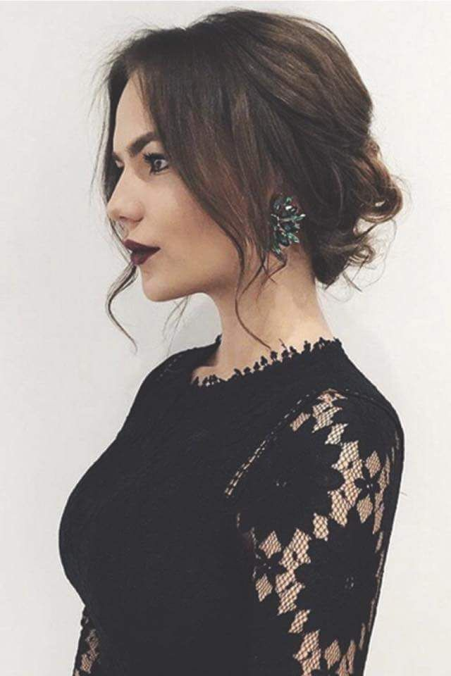 Pretty Loose Updo Prom Hairstyles For Short Hair Short Wedding