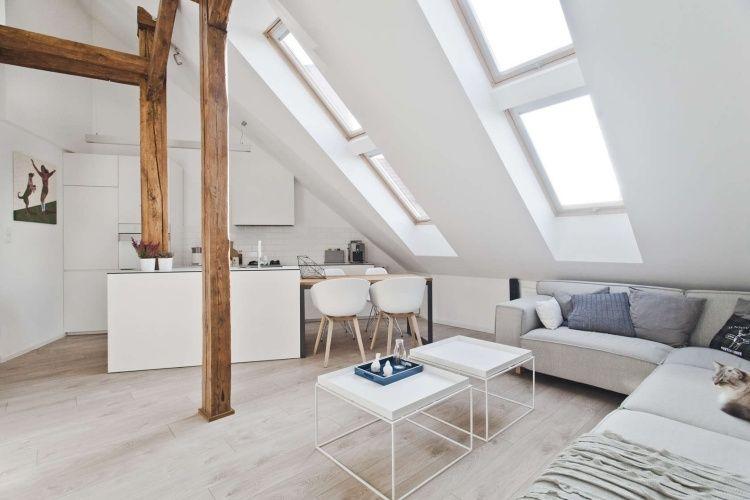 dachgeschosswohnung mit kleiner offenen küche und sitzecke ... - Dachgeschoss Küchen Bilder