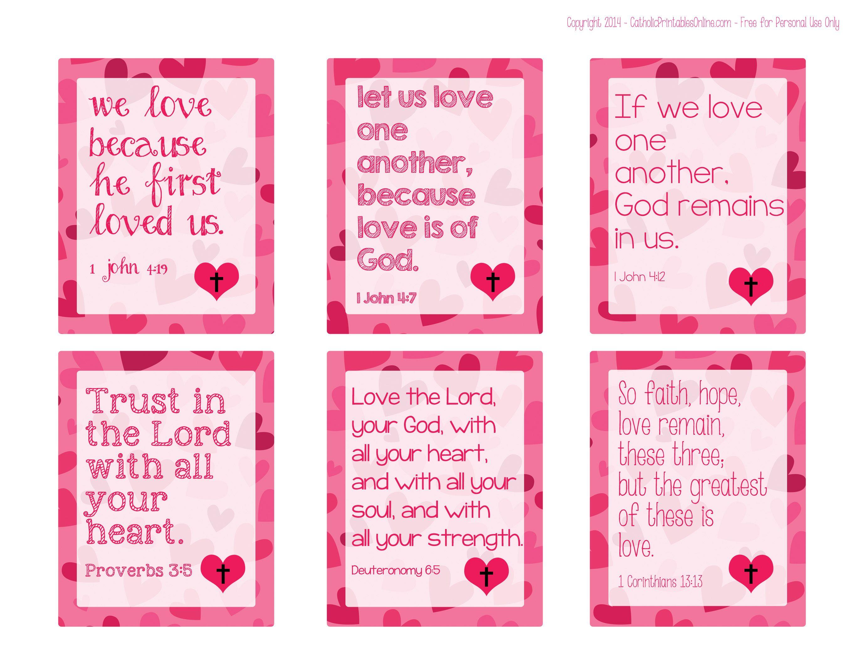 Biblical Valentines Valentine S Day Pinterest Valentine Verses