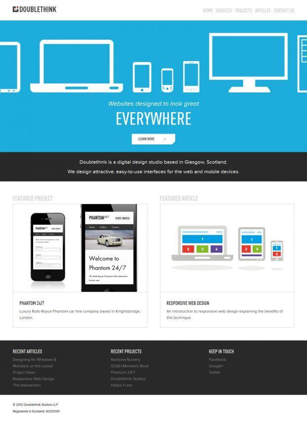 Doublethink Digital Design Studio Based In Glasgow Best Website Web Design Inspiration Showcase Www Web Design Website Inspiration Digital Design