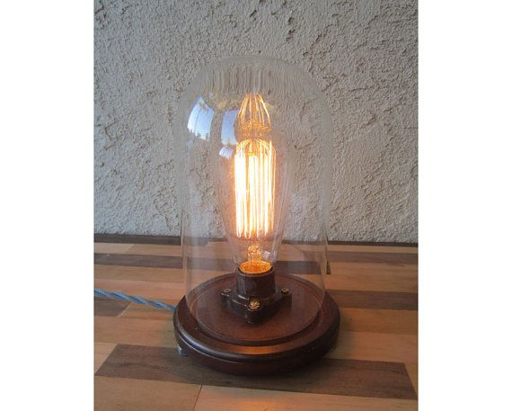 Edison Lamp   Desk Lamp   Steampunk Light   Industrial Lamp   BULB INCLUDED    Table