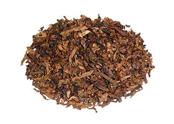"""Milan Tobacconists Custom Blend Pipe Tobacco ~ """"Our"""" Kentucky Club Mixture (Aromatic) """"Our"""" Kentucky Club Mixture combines five choice imported and domestic tobaccos - Turkish, Perique, White Burley, Carolina, and Bright Virginia. The cut is a combination of ribbon, cube, flake, and shag. Cool burning, very mild, and refreshing, this pleasingly aromatic blend was created for those who enjoyed Middleton's discontinued Kentucky Club Mixture."""