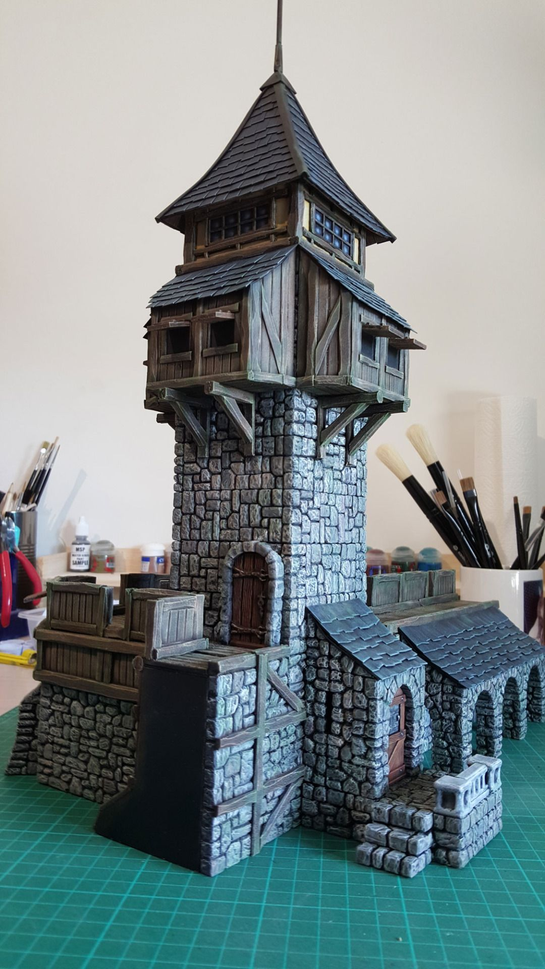 Papercraft Medieval Building - Year of Clean Water