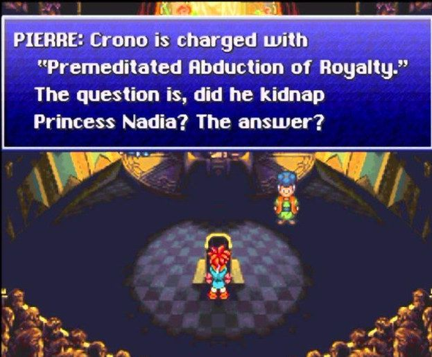 Being put on trial for kidnapping in Chrono Trigger. | 28 Moments Everybody Who Played Nintendo In The '90s Will Remember