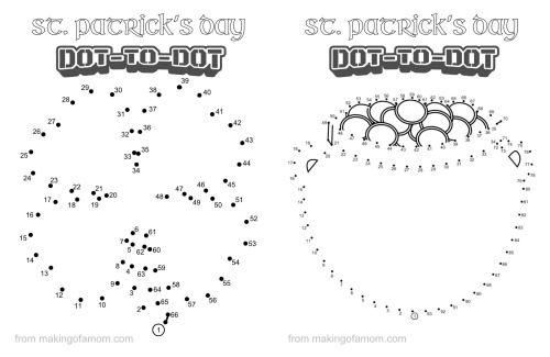 St. Patrick\'s Day Dot to dot