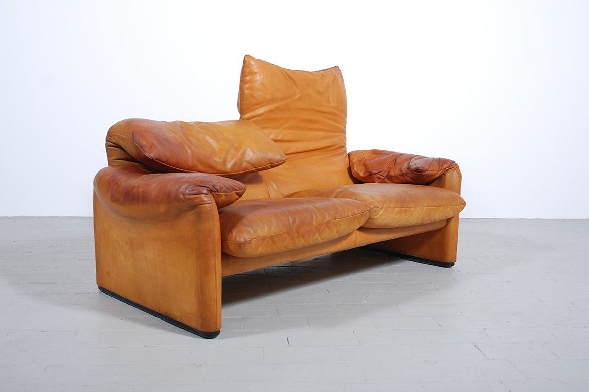 Minimalistischer Sessel Maralunga From Cassina Design Vico Magistretti 70s