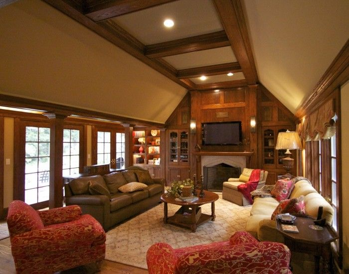Tudor home interior design elements for the home pinterest tudor style craftsman style for Craftsman interior design elements