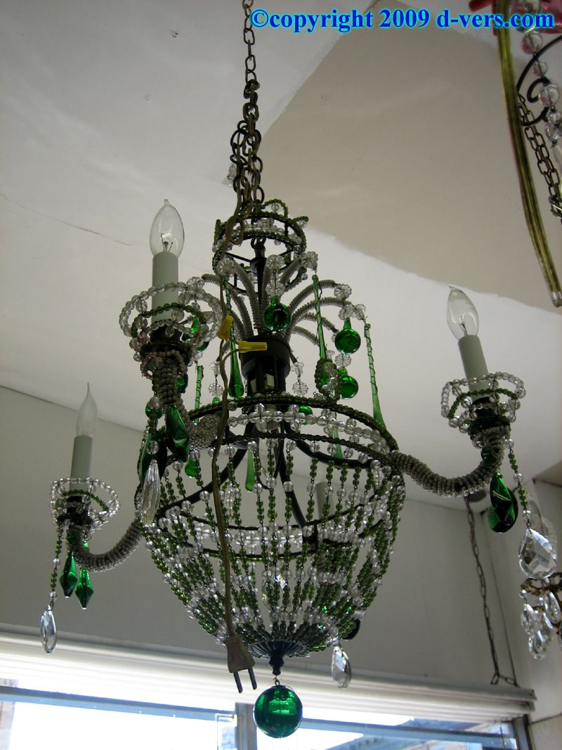 Boroparkantiqueskelly green glass crystal chandelier vintage boroparkantiqueskelly green glass crystal chandelier arubaitofo Image collections