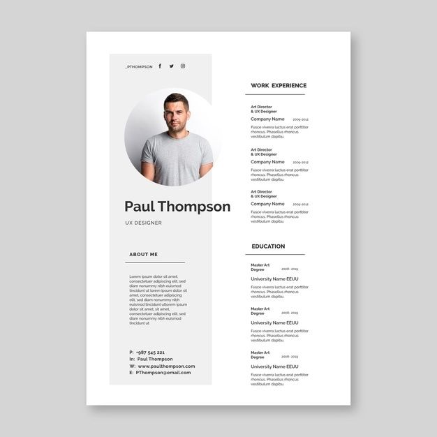 Download Minimalist Cv Template Concept For Free In 2020 Cv Template Graphic Design Resume Resume Design Free