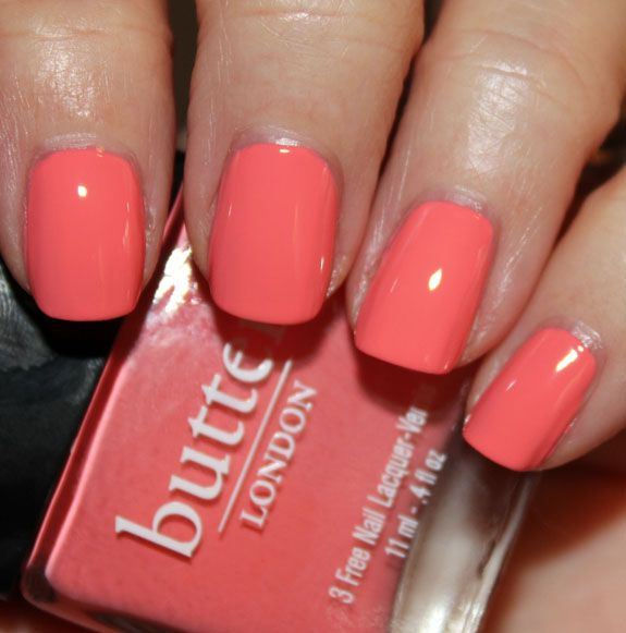 Trout Pout by Butter London is a pale coral creme.  Adore!!