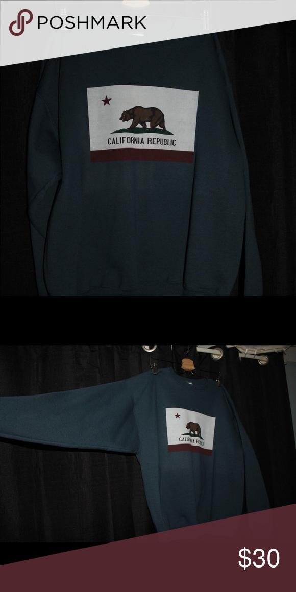 California Republic Navy Adult Sweatshirt