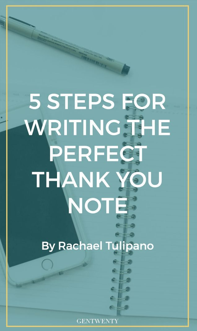 6 steps to writing a thank you note