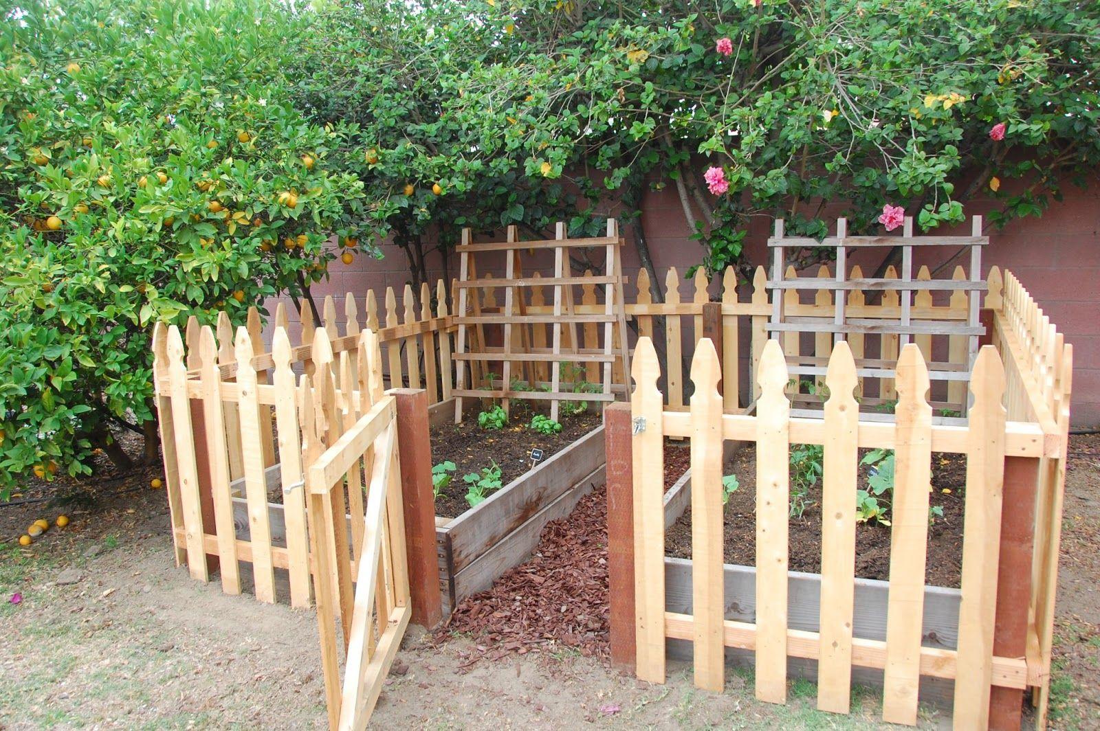 Beautiful Fence Around Garden #12 Vegetable Garden Fence