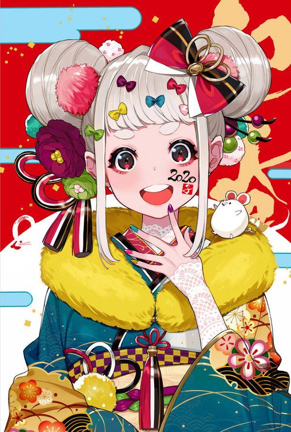 Artist 裕 in 2020 Anime, Anime art, Anime kimono