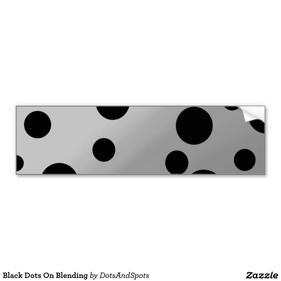 Bumper sticker design tips - Bumper Sticker Design Inspiration Black Dots On Blending Car Bumper Sticker