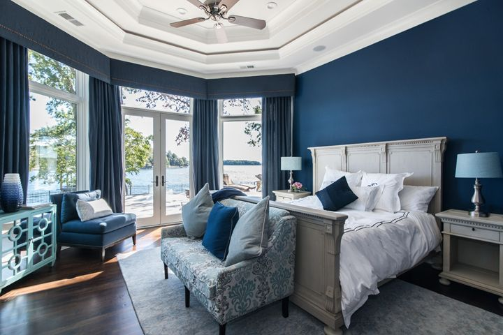 Weber Design Group Lakehouse Bedroom Blue Master Bedroom Home Bedroom