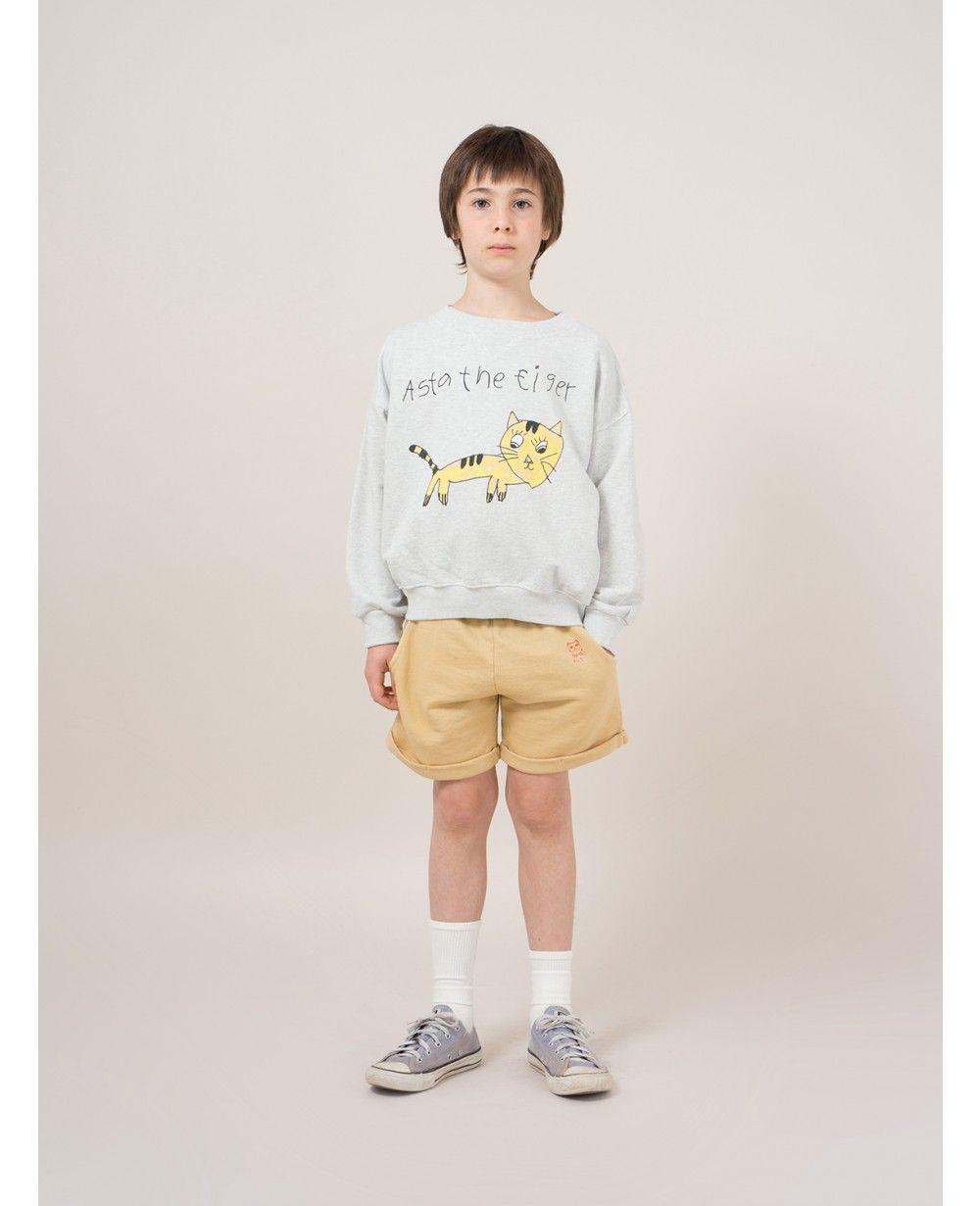 Kinderkleding Webshop.Grey Tiger Sweatshirt Bobo Choses Online Baby Kids Teens