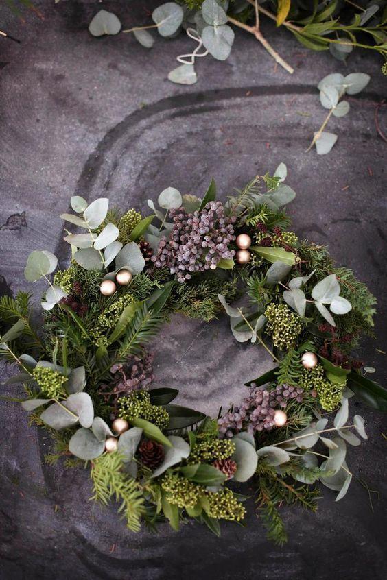 Adventskranz binden: Eine Anleitung zum modernen Kranz - #Adventskranz #Anleitung #binden #Eine #Kranz #modernen #ornamentdecoratingparty #zum #vintageweihnachtendeko