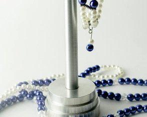 Conjunto Colar e pulseira pérolas azuis