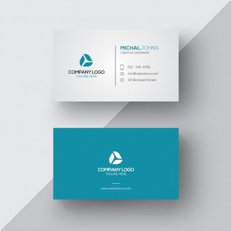 Blue And White Business Card  Name Card Design