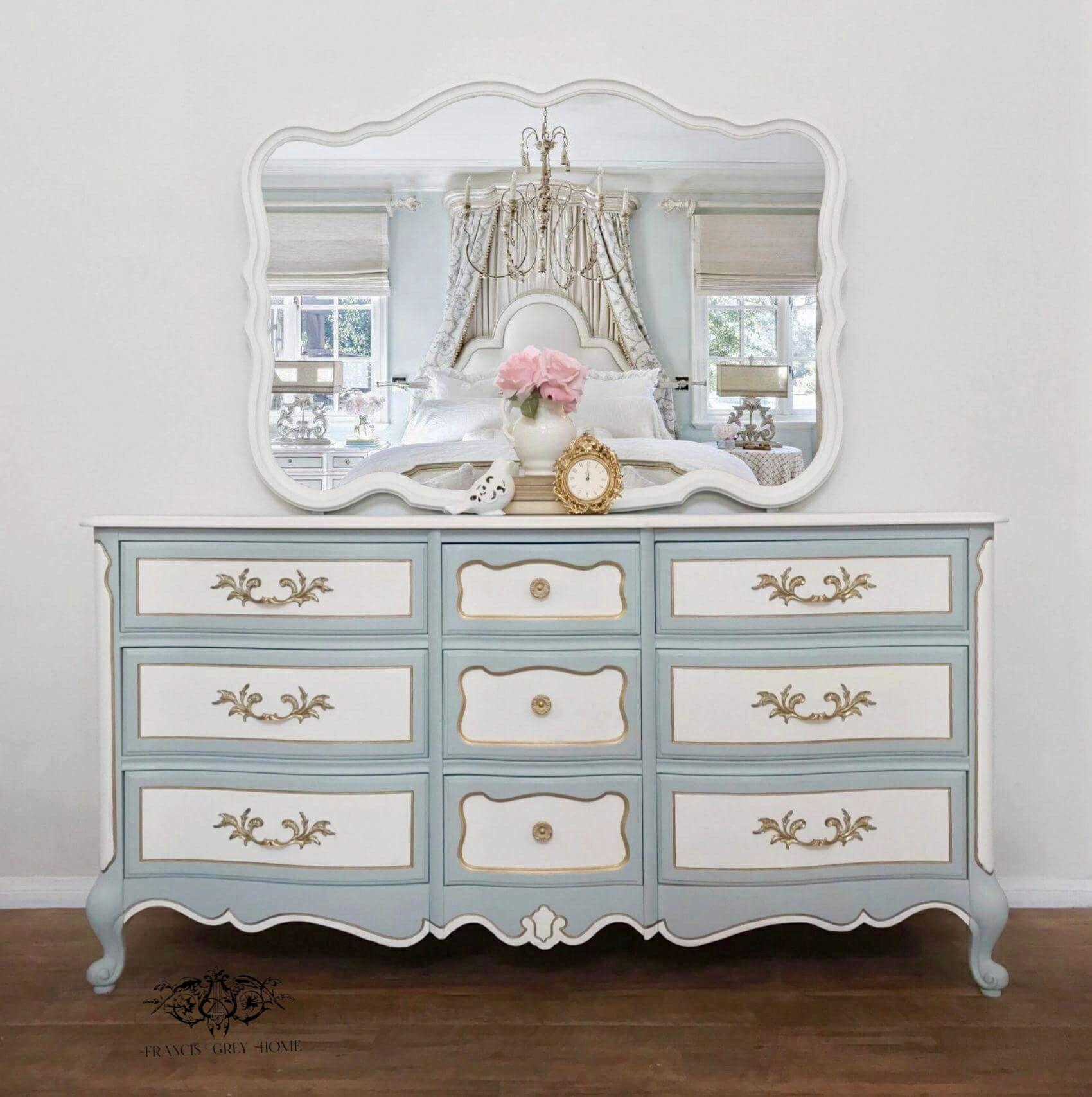Nursery Dresser Bedroom French Provincial Painted Gray Morning Furniture Makeover Vintage Bett