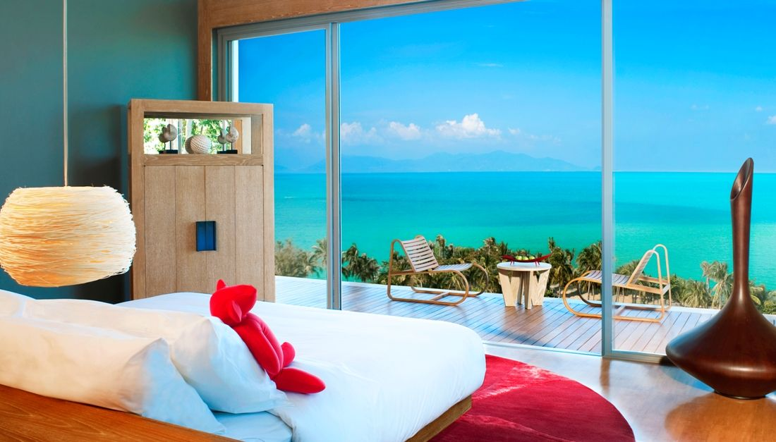 Ocean Bedrooms bedroom with ocean view. #bedroom #ocean #design #relax #unreal