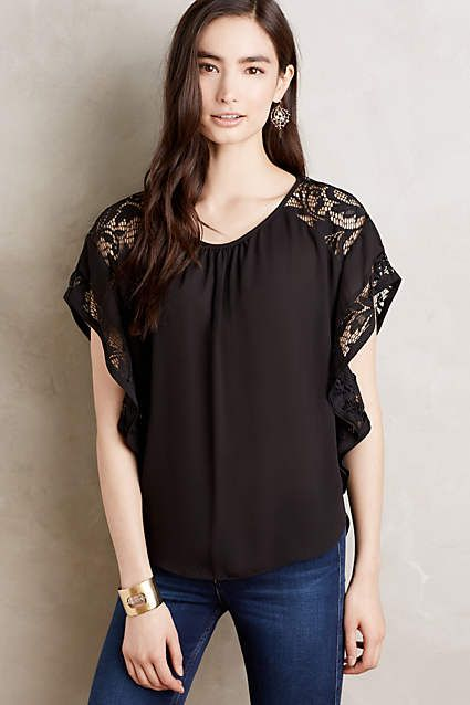 Lightweight long sleeve blouse with cold shoulder design