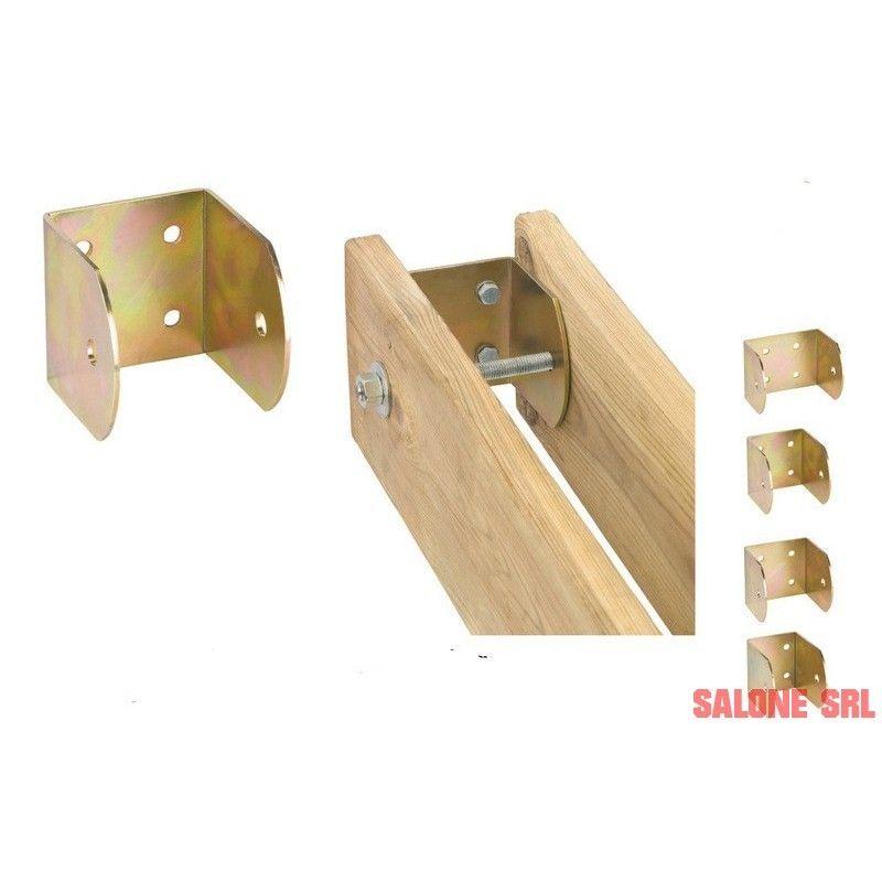 Piastra supporto a parete 10 pz per fissaggio travi legno for Come costruire un mazzo di portico anteriore