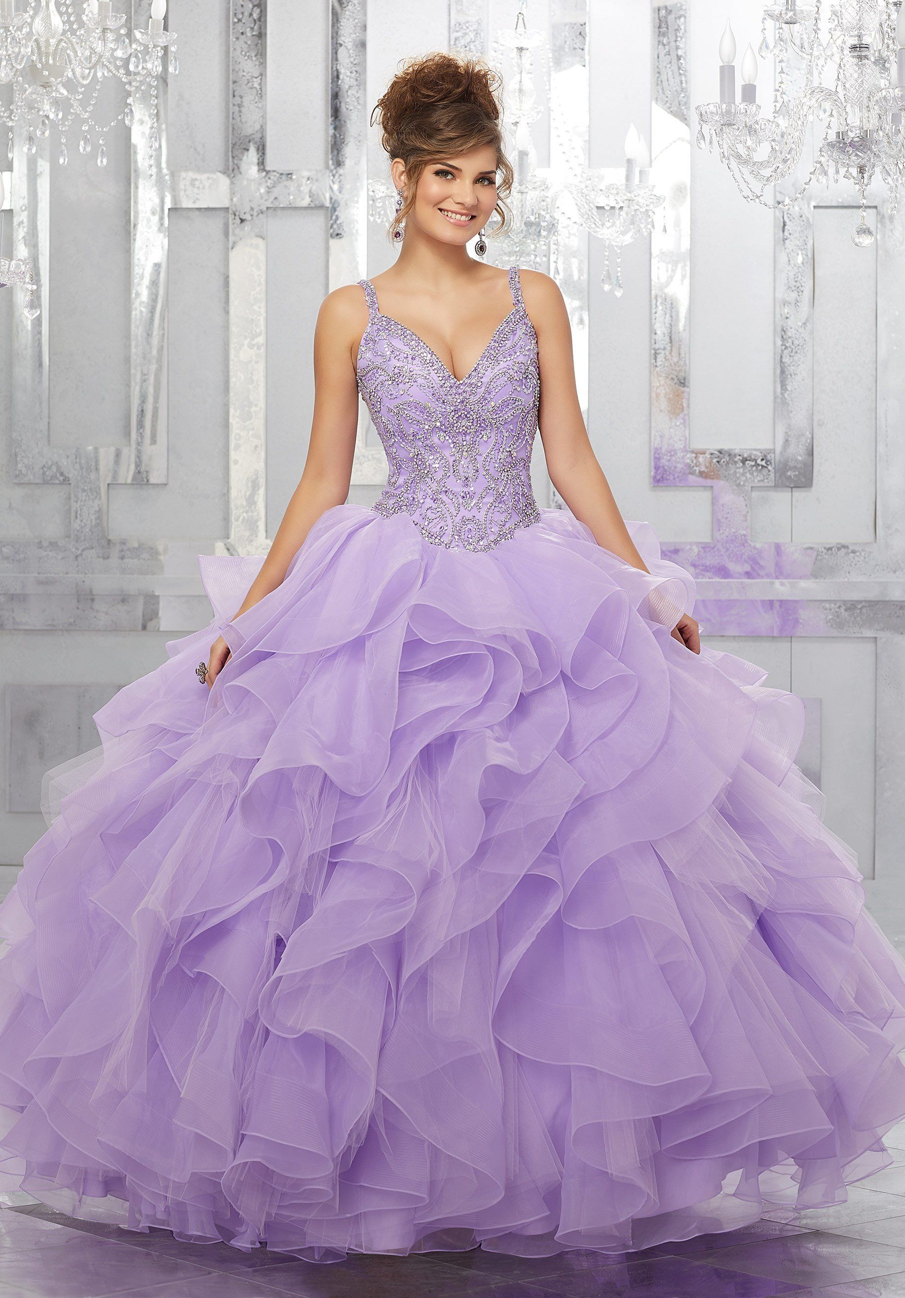 707499b9861 Beaded V-Neck Quinceanera Dress by Mori Lee Vizcaya 89148 in 2019 ...